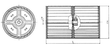 Impeller fan coil unit